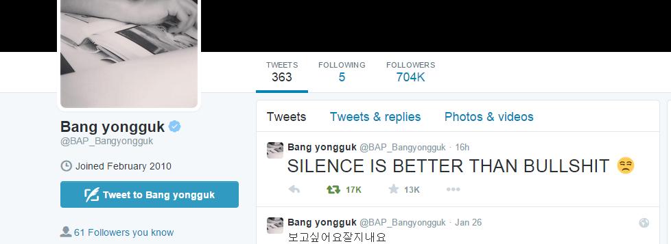 Tweet Bang Yong Guk