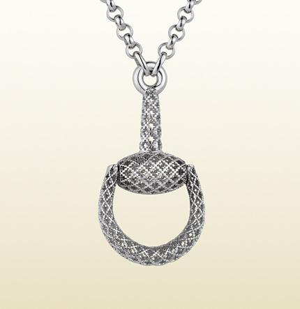 gucci-horsebit-sterling-silver-pendant